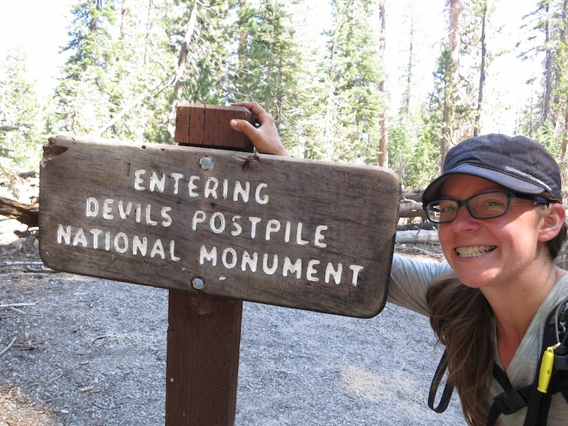 Showing my tired as I enter the Devil's Postpile National Monument.