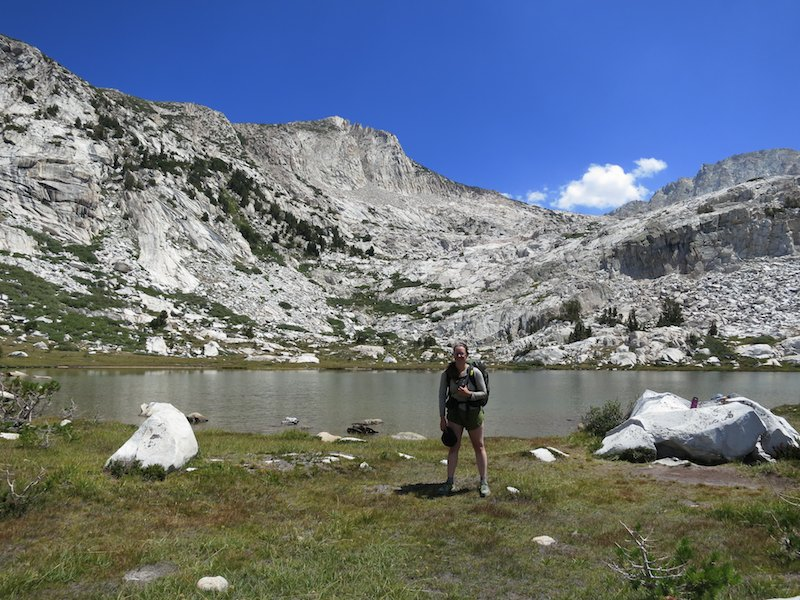 Thanks to Pamela for taking this shot of me at Squaw Lake.