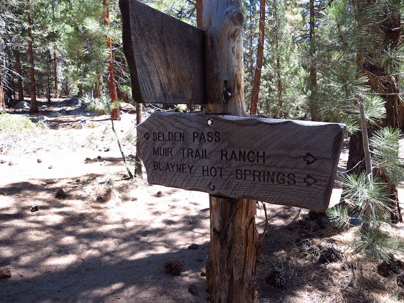 Getting close to Muir Trail Ranch and my campsite for the night at Blayney Hot Springs.