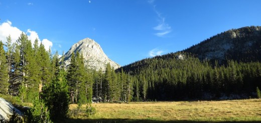 The moon over the Hermit, by our campsite in Colby Meadow.