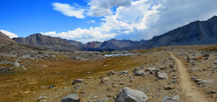 jmt in upper basin after mather pass