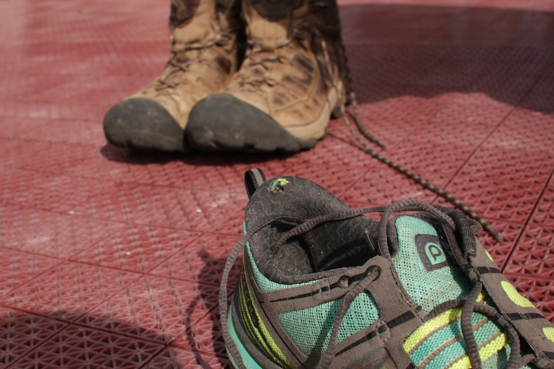 Introducing Brooks PureGrit 2s, my 2013 hiking shoe of choice. Photo by Meg.