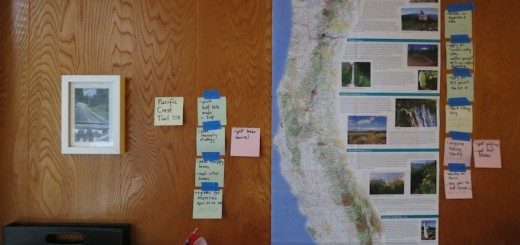 PTC map and sticky note organization