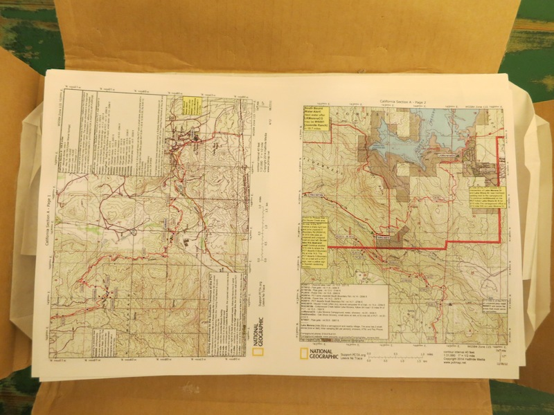 halfmile maps printed two up and double-sided