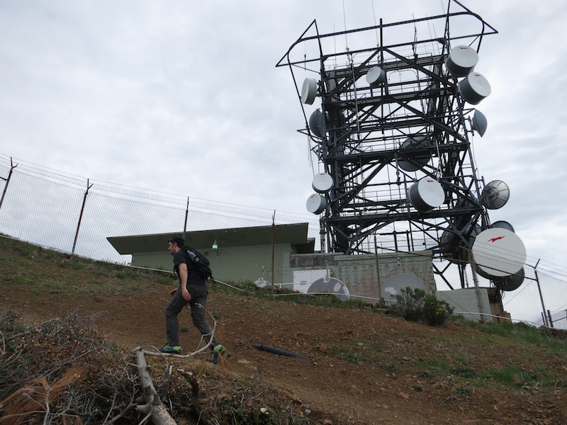 russell and communication tower near mount diablo summit