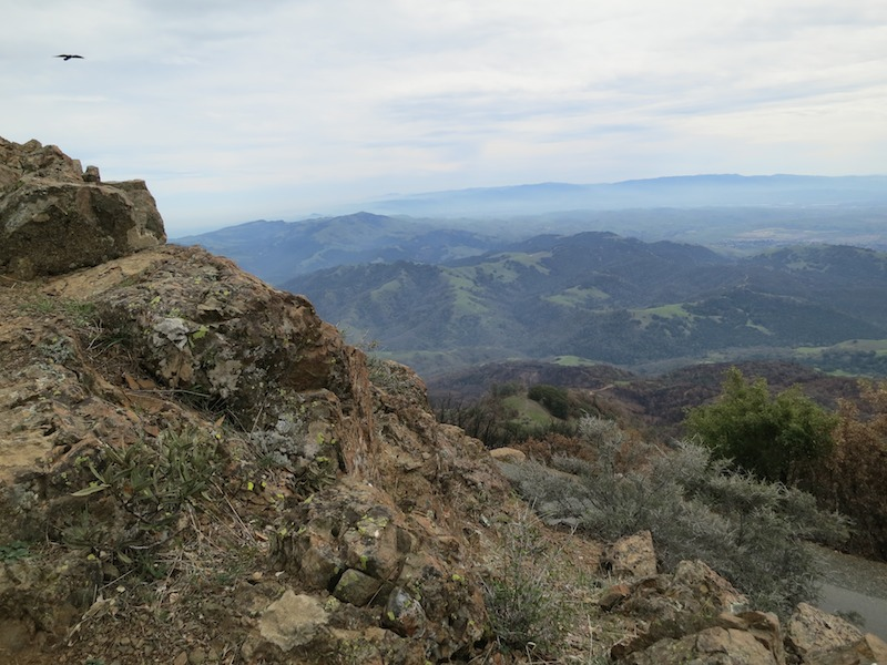southwest view from summit trail