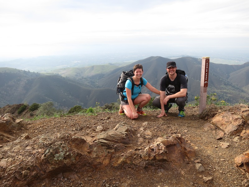 alice & russell at eagle peak summit in mount diablo state park