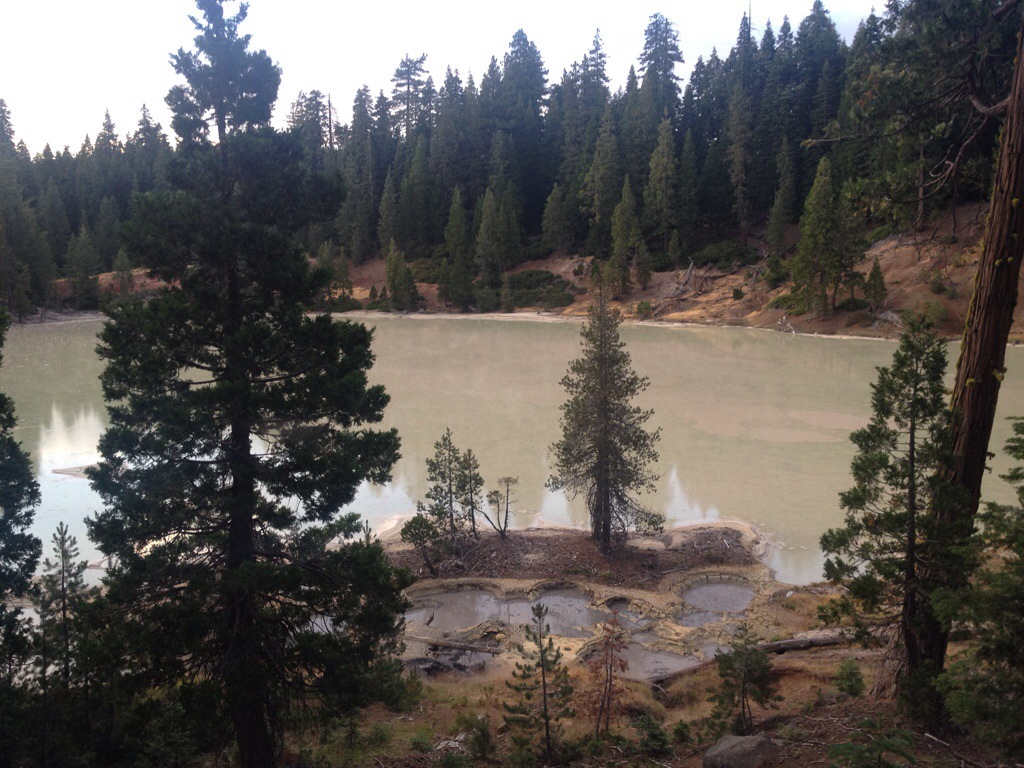 Boiling Lake in Lassen Volcanic National Park.