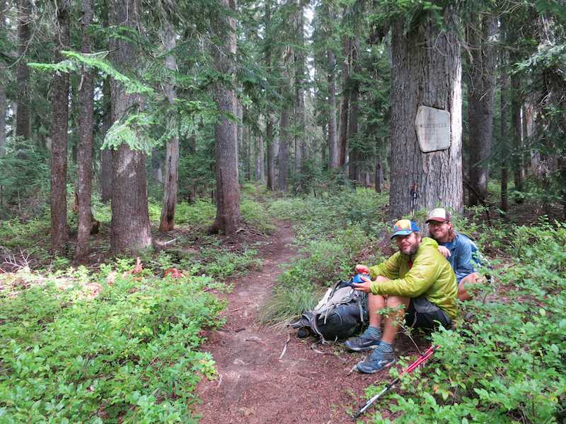Star Rider and Brent at the entrance to Goat Rocks Wilderness.