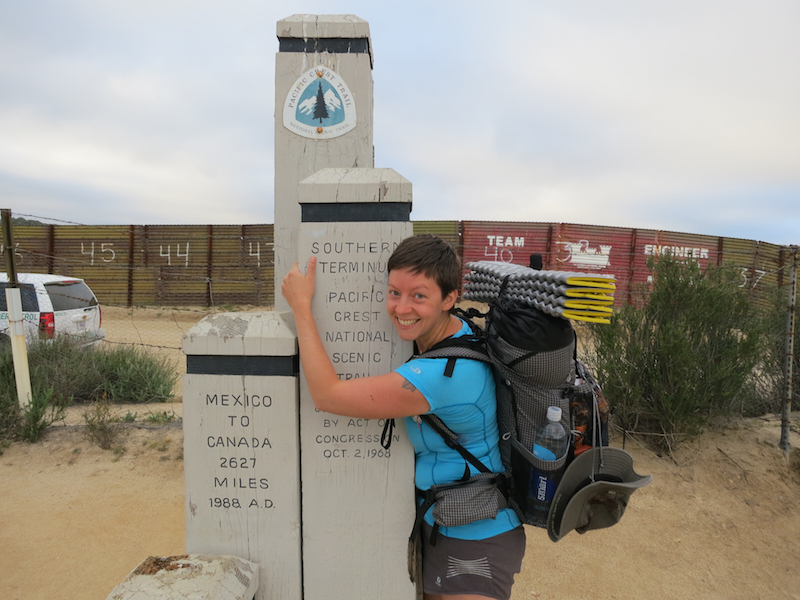Starting out from the southern terminus with my MLD Burn pack.