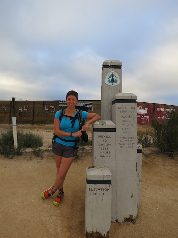 Penguin/Alice at the southern terminus of the PCT