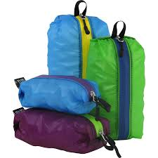 The full set of Granite Gear Air Zippditty sacks.