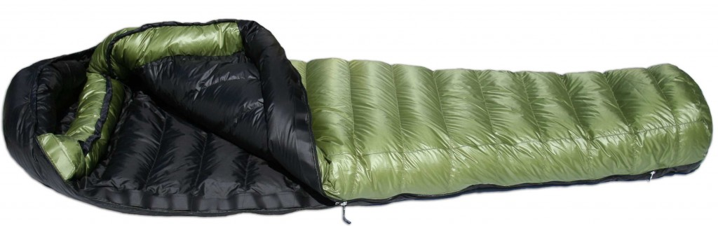 The Western Mountaineering Versalite 10°F sleeping bag.